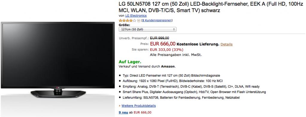 LG 50LN5708 Smart TV