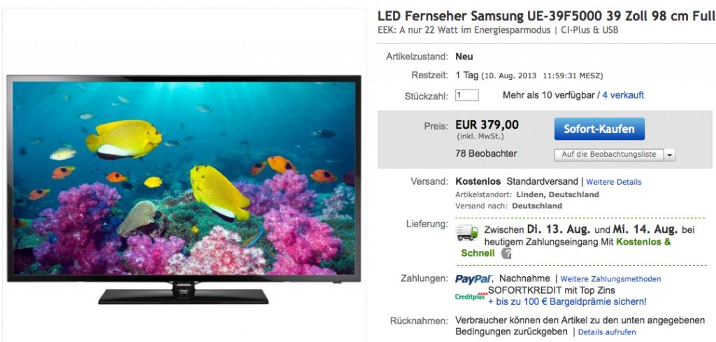 Samsung UE39F5000