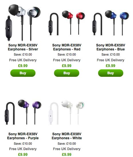 Sony MDR-EX58V In-Ear Kopfhörer