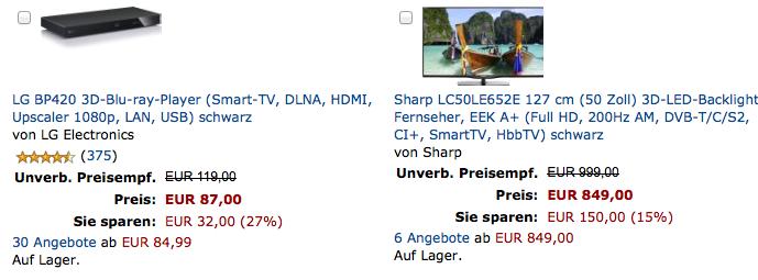 Sharp LC50LE652E (3D-Fernseher)