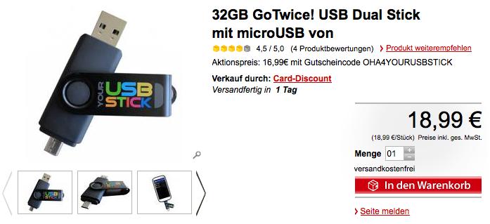 GoTwice! Dual USB Stick