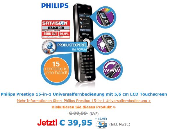 Philips Prestigo Universalfernbedienung