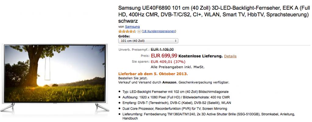 Samsung UE40F6890