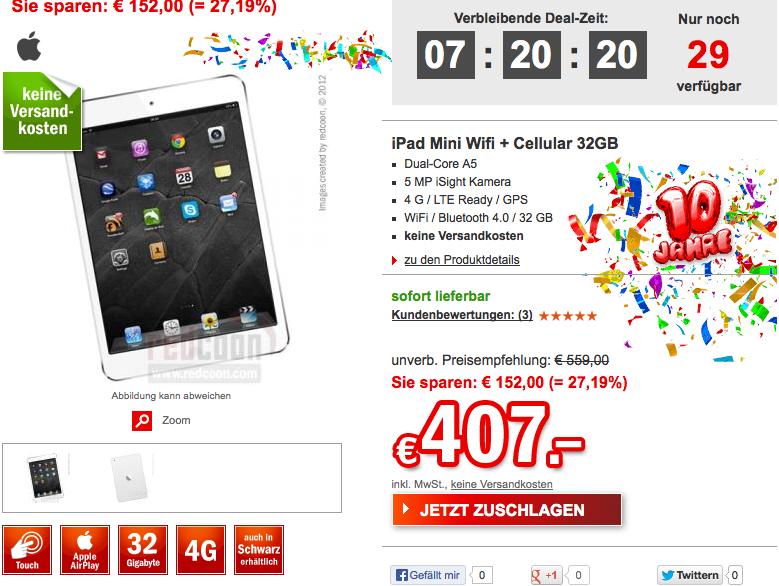 Apple iPad Mini 32 GB Weiß