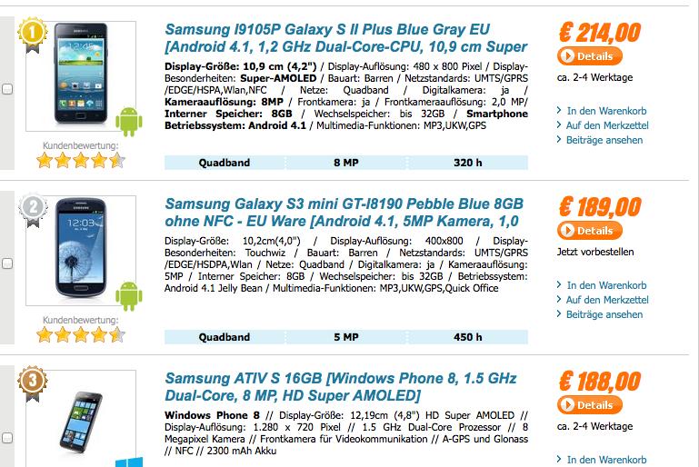 50 € Gutschein für Samsung-Smartphones