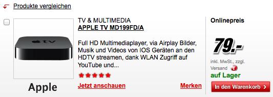 Apple TV für 79 €