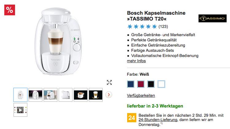 Für Otto Neukunden Bosch Tassimo T20 Nur 19 Bei Techschnaeppchende