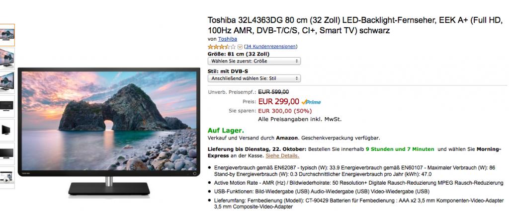 Toshiba 32L4363DG LED-TV