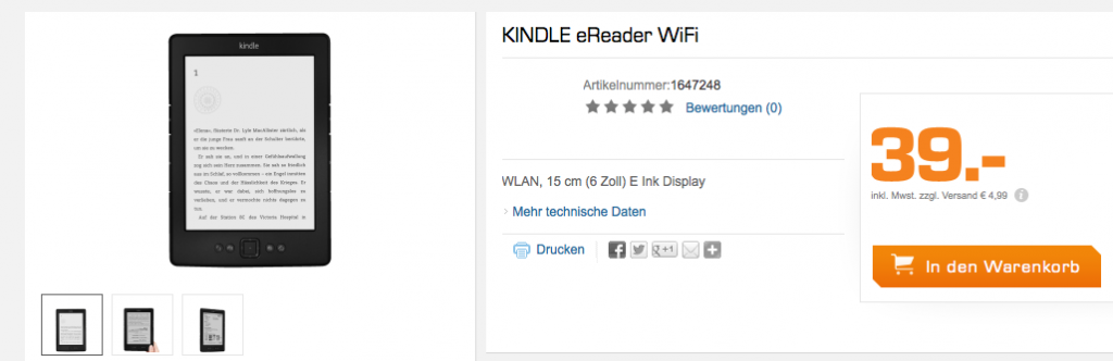 Kindle Reader WiFi